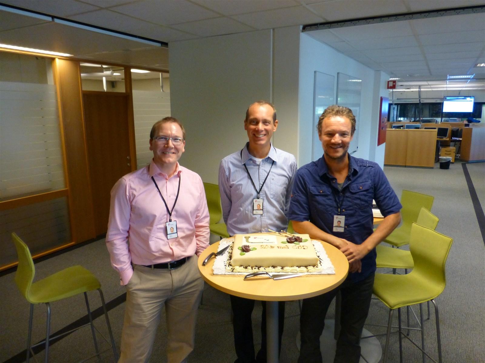 Directors Gard Karlsen, Olav Beisland and Knut Fadnes